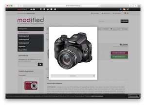 Screenshots zur modified eCommerce Shopsoftware