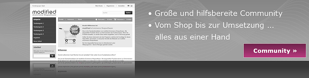 modified eCommerce Shopsoftware Community