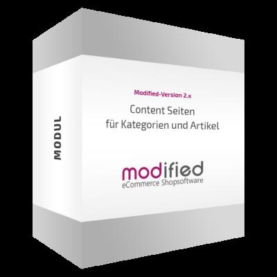 Content Seiten für Kategorien und Artikel